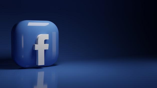 Logo aplikacji facebook 3d