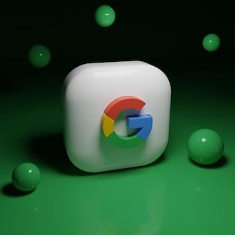 Logo aplikacji google w 3d