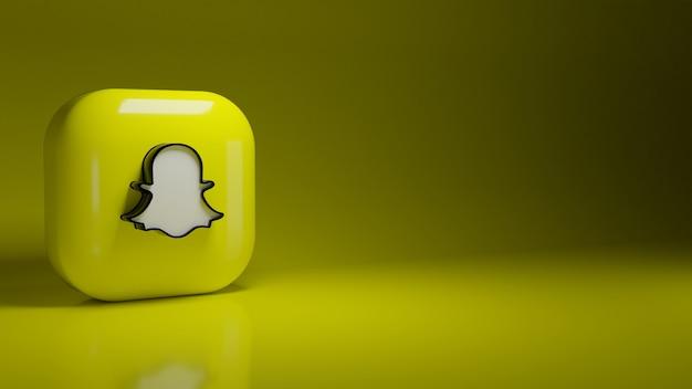 Logo aplikacji snapchat 3d