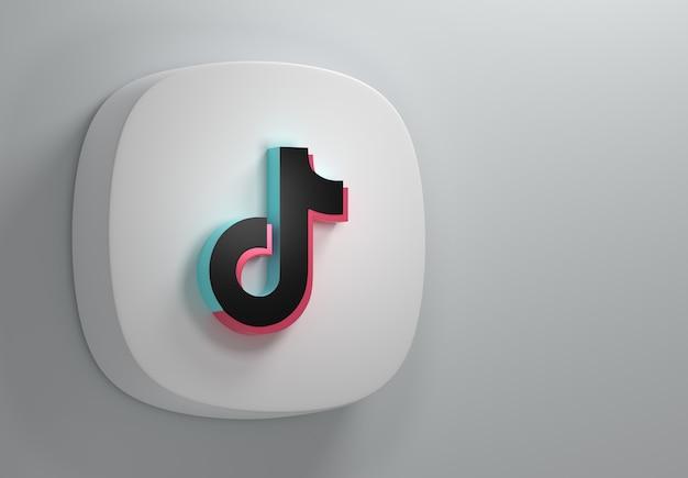 Logo aplikacji tik tok w minimalnym, prostym stylu
