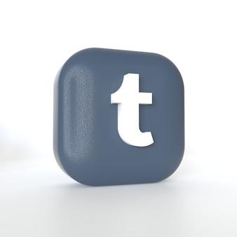 Logo aplikacji tumblr z renderowaniem 3d