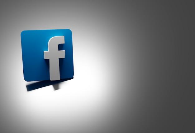Logo facebooka w kolorze białym i niebieskim