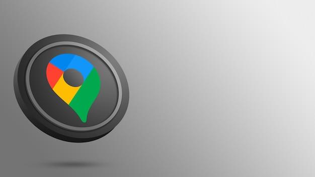 Logo google maps na renderowaniu okrągłego przycisku