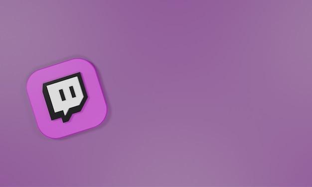 Logo ikony renderowania 3d drgnięcie