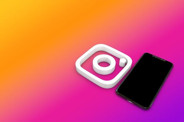 Logo instagram na ilustracji 3d