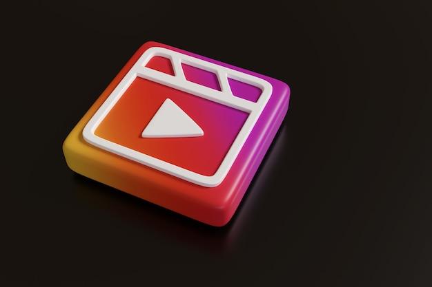 Logo instagrama na czarnej powierzchni