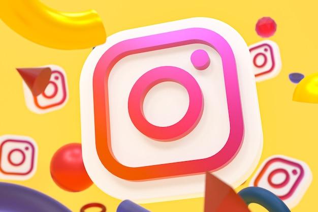 Logo na instagramie ig z elementami geometrii
