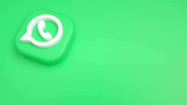 Logo whatsapp minimalne tło 3d