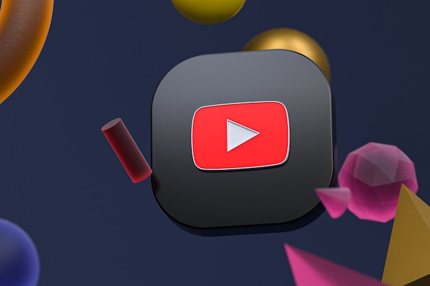 Logo youtube na streszczenie tło geometryczne