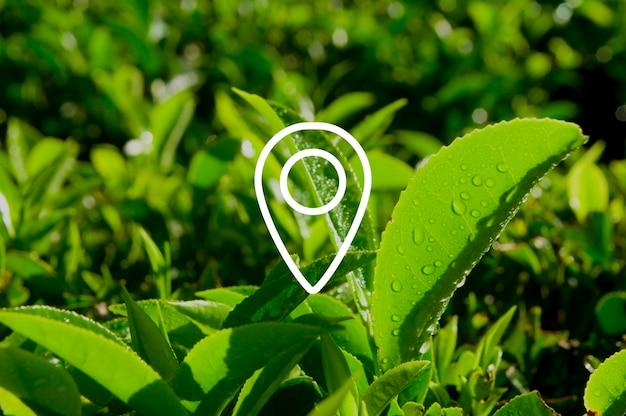 Lokalizacja nawigacja cel podróży koncepcja pozycji