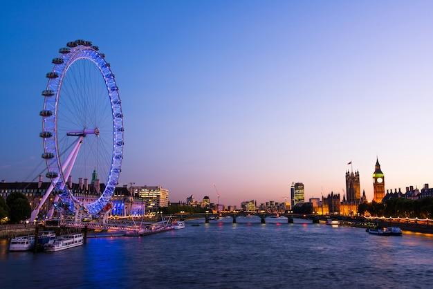 London city skyline, wielka brytania