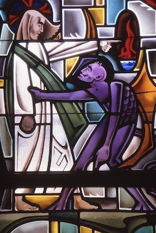 Los angeles, stany zjednoczone - 17 czerwca 1985: diabeł kusi jezusa