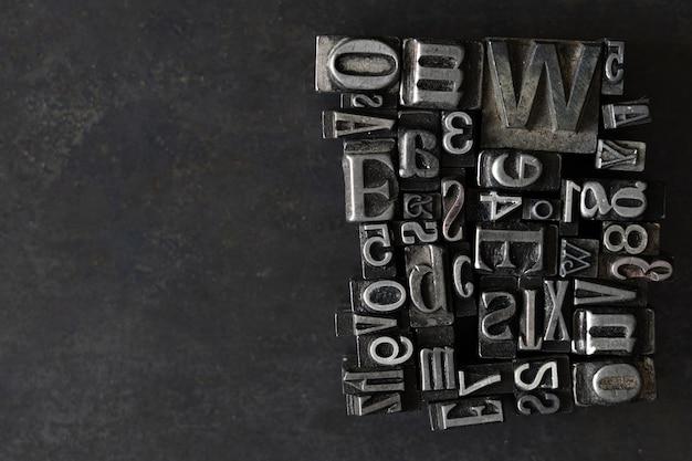 Losowa kolekcja typograficzna do druku