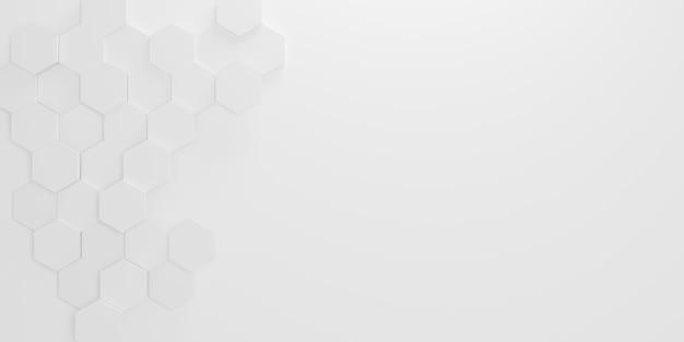 Losowo przesunięty biały sześciokątny wzór tła o strukturze plastra miodu tapeta transparent z projektem przestrzeni kopii