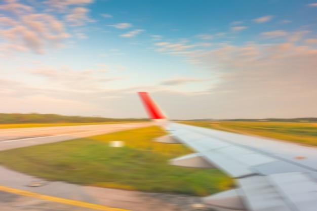 Lot lądowania lotnisko z powrotem express