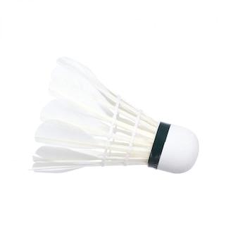 Lotka do badmintona na białym tle