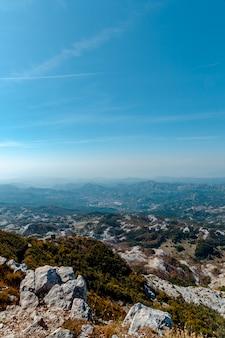 Lovchen national park. widok z góry.