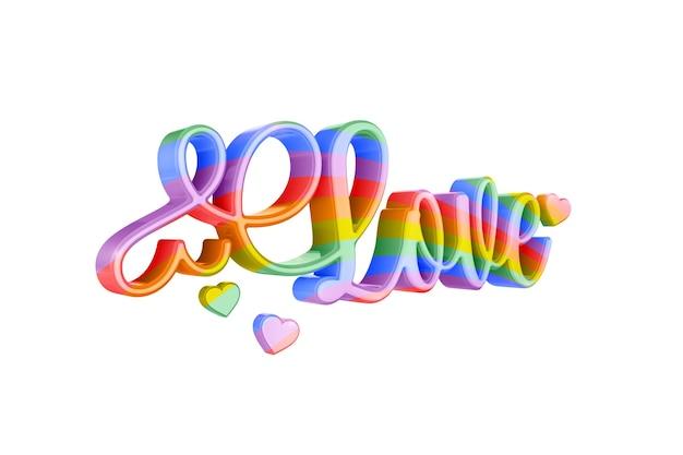 Love lgbt kolor na białej powierzchni