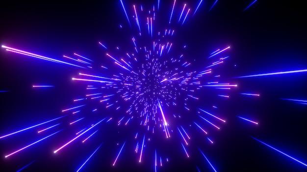 Lśniące niebieskie fajerwerki