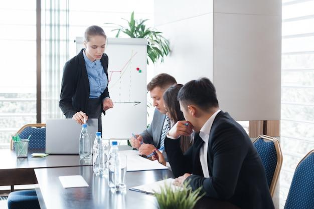 Ludzie biznesu korporacyjnego spotkania zarządu pokoju pojęcia