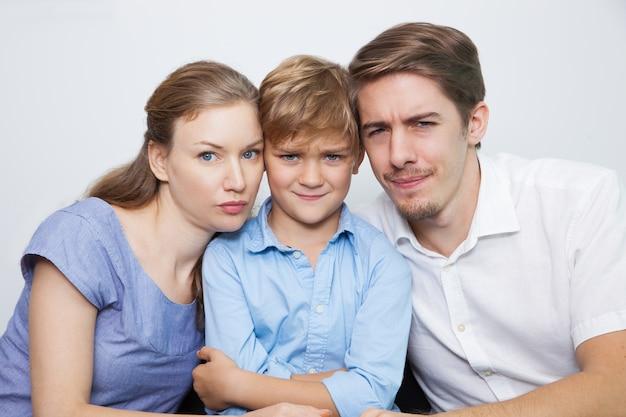 Ludzie, dziecko rodzina włosy chłopca