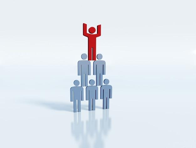 Ludzie - koncepcja zespołu biznesowego