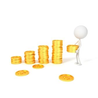 Ludzie modelują i dolarowe monety z oszczędzania pojęciem.