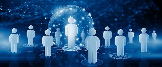 Ludzka sieć społecznościowa zarządzanie zasobami ludzkimi i budowanie zespołu rekrutacja i przywództwo hr