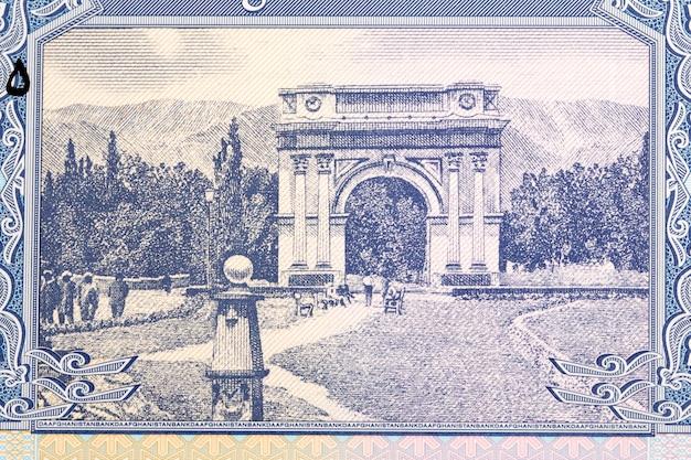 Łuk zwycięstwa w pobliżu kabulu z afgańskich pieniędzy