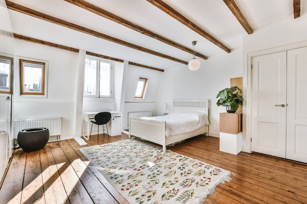 Luksusowa sypialnia domu w pięknym stylu