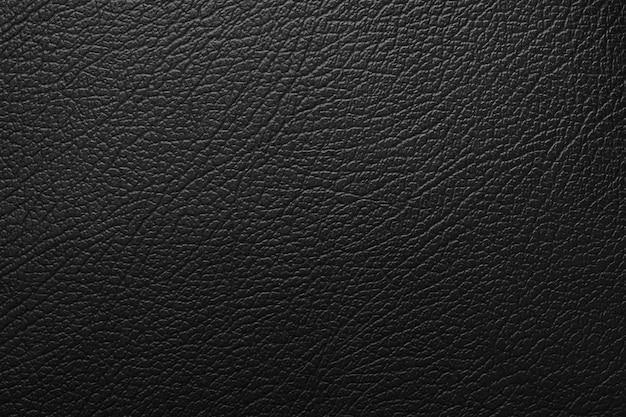 Luksusowe czarne skórzane tekstury powierzchni tła