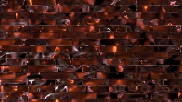 Luksusowe płytki 3d wykonane z litego szlachetnego drewna i kolorowych metalowych elementów dekoracyjnych