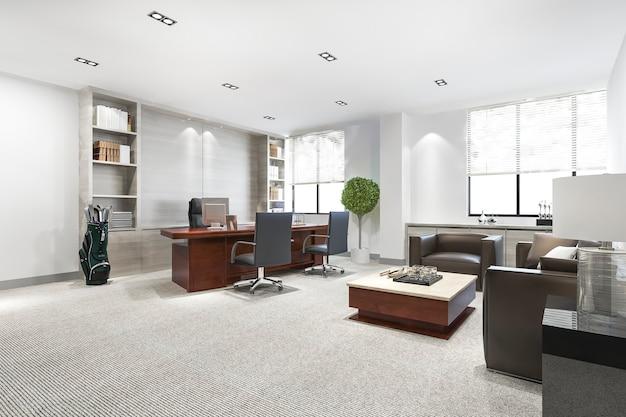 Luksusowe spotkanie biznesowe i pokój do pracy w biurze wykonawczym