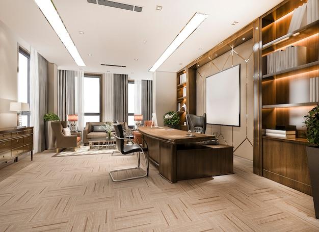 Luksusowe spotkanie biznesowe i pokój roboczy w biurze wykonawczym