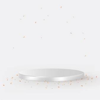 Luksusowe tło produktu 3d w kolorze srebrnym