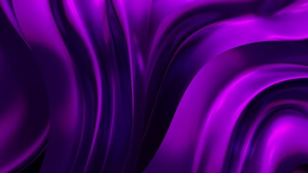 Luksusowe tło z fioletową tkaniną draperii. renderowanie 3d.