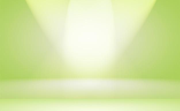 Luksusowe zwykły zielony gradient studio abstrakcyjna tła pusty pokój z miejscem na tekst i obraz.