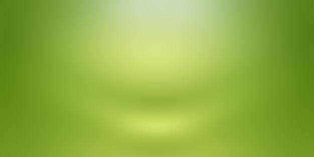 Luksusowe Zwykły Zielony Gradient Studio Abstrakcyjna Tła Pusty Pokój Z Miejscem Na Tekst I Obraz. Premium Zdjęcia
