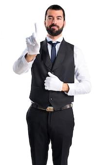 Luksusowy kelner licząc jeden