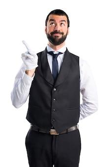Luksusowy kelner skierowany do góry