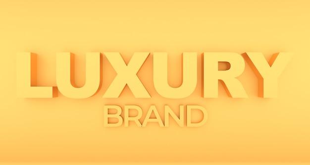 Luksusowy napis z efektem złota