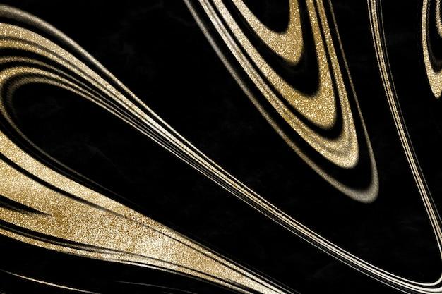 Luksusowy styl złotego płynnego marmuru
