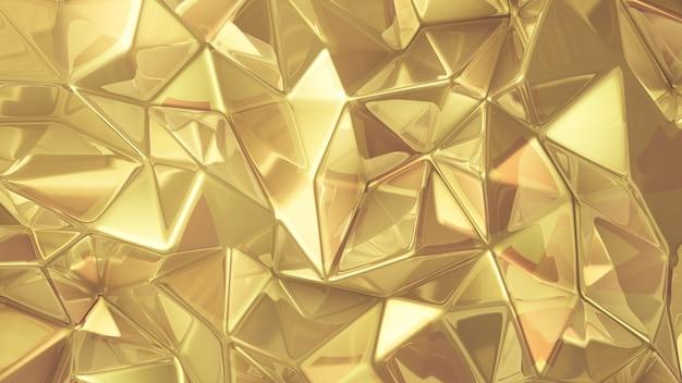 Luksusowy złoty kryształ tło. ilustracja, renderowanie 3d.