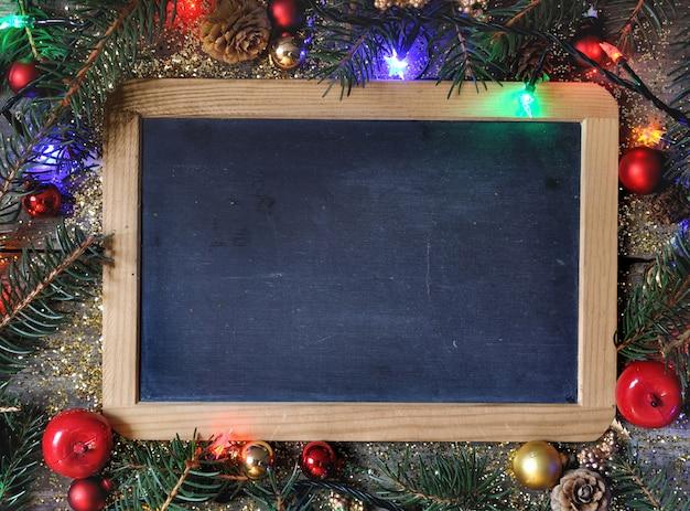 Łupkowa dekoracja świąteczna