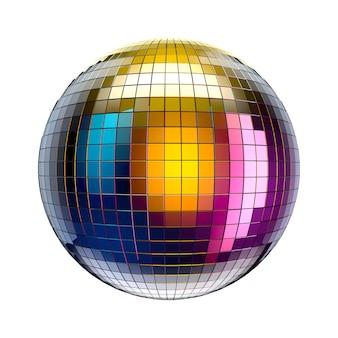 Lustro disco ball na białym tle