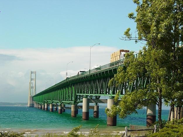 Mac wielkie jeziora jezioro michigan potężny most