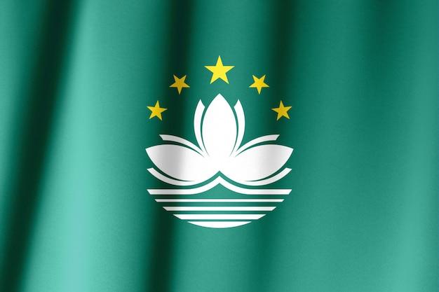 Macha flagą makau