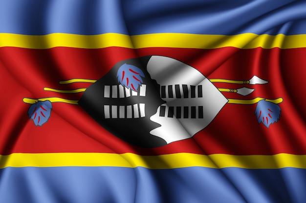 Macha jedwabną flagą eswatini