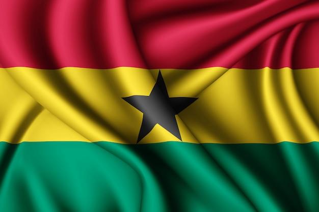 Macha jedwabną flagą ghany
