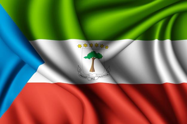 Macha jedwabną flagą gwinei równikowej